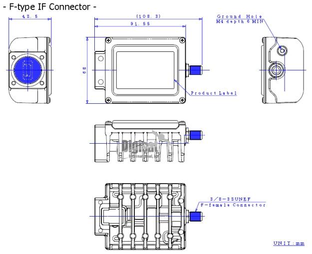 njrc njt8302 3W BUC dimensions