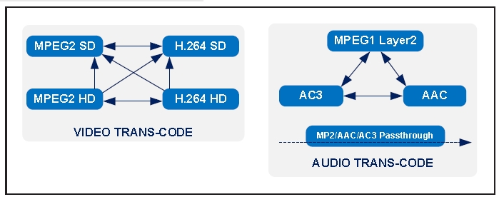 International Datacasting TC-5006 Broadcast Video Transcoder
