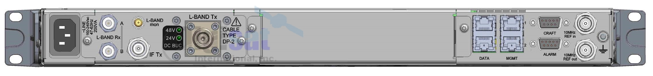 Newtec MDM9000 Rear RF Interface