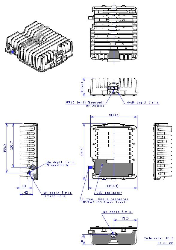 njrc njt5207 4W BUC dimensions