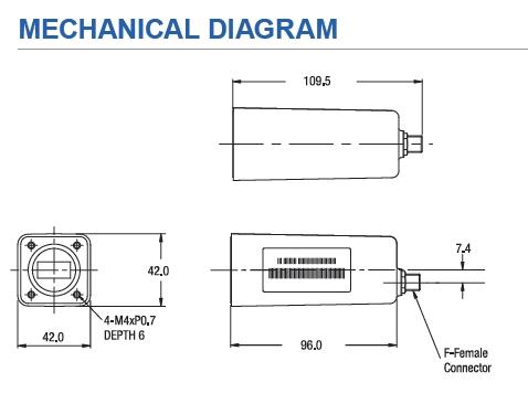Norsat HS1058AF High Stability Ku-Band PLL LNB  8 dB Noise Figure,  F-connector