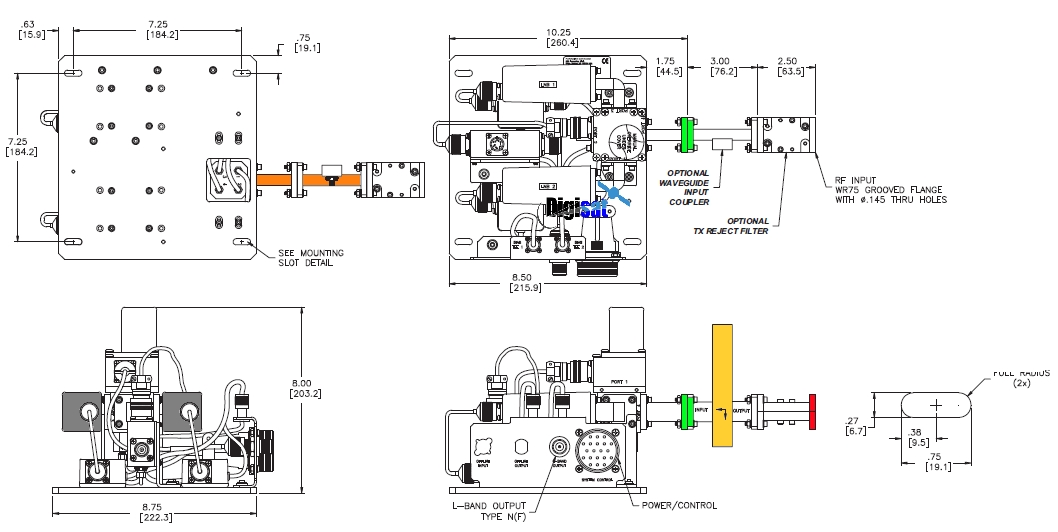 Teledyne Paradise Datacom Ku-Band LNB Redundancy System Diagram