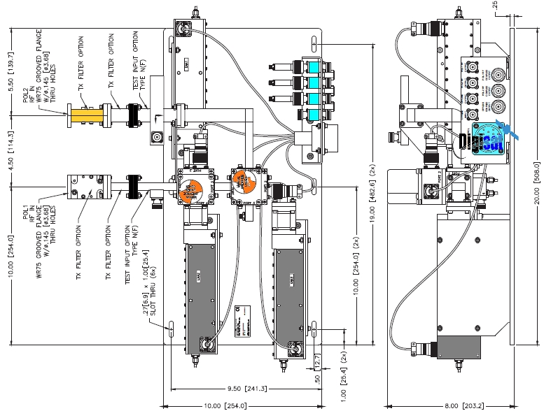 Teledyne Paradise Redundant Ku Band Lna System Diagram on Temperature Control System Diagram
