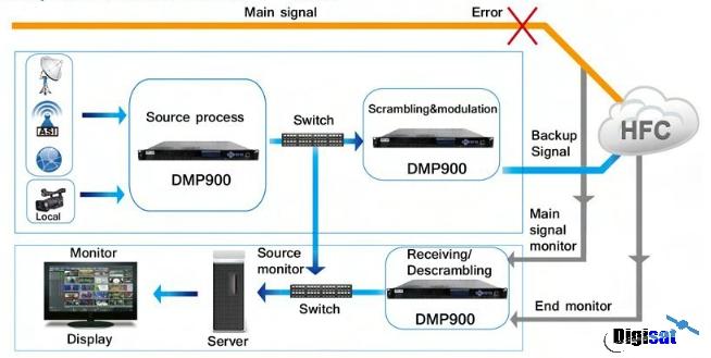 Wellav DMP900 Network Configuration Diagram