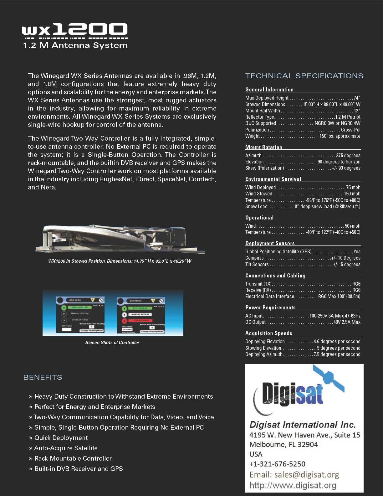 Winegard WX1200 technical details