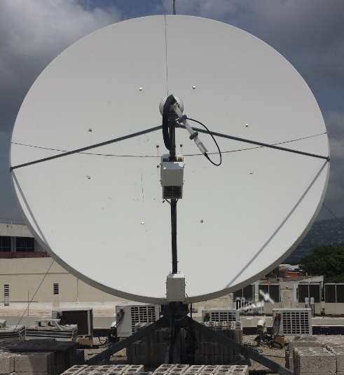 3.8M VSAT Internet Antenna providing iDirect services to Accra Ghana