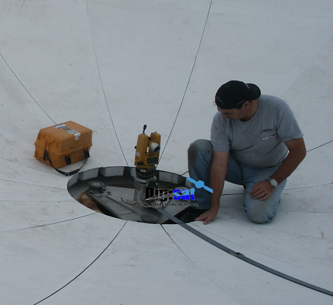 Antenna Reflector Theodolite Alignment 9.3 meter Vertex GD Satcom