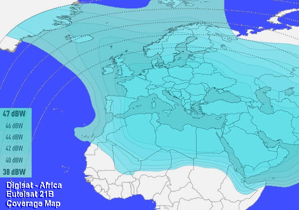 Eutelsat 21B North Africa Idirect Broadband Internet