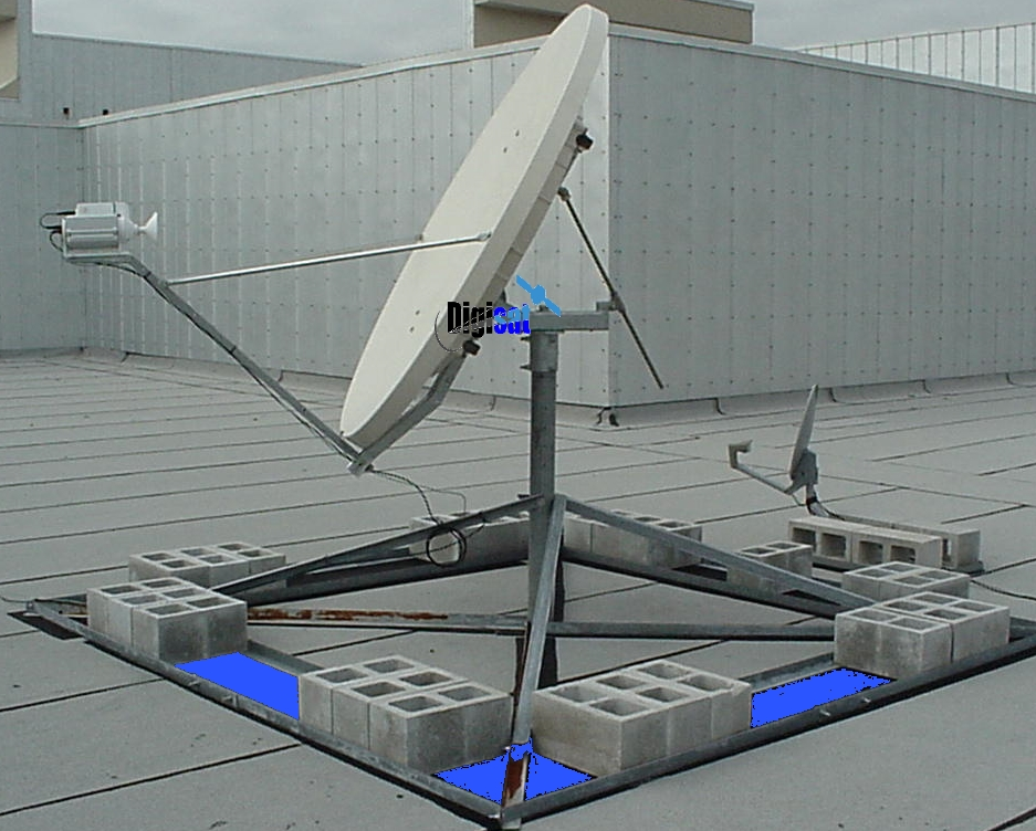 Fixed Semi-Fixed VSAT Satellite Communications Internet Antenna System