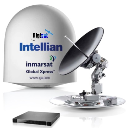 Marine VSAT Satellite Internet antenna system idirect global express