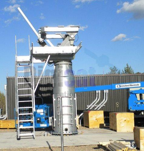 Ka-Band satellite tx/rx antenna system main reflector pedestal installation alignment