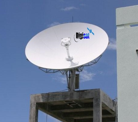 VSAT antenna delivering broadband iDirect Internet in Lagos Nigeria