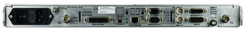 Comtech CDM-570L Rear Interface Connectors