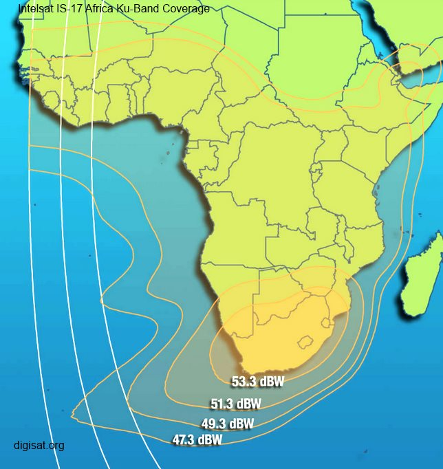 Intelsat IS-17 Satellite Footprint Map & Transponder Info
