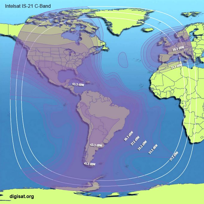 Central Auto Sales >> Intelsat IS-21 Ku-Band & C-Band Satellite Footprint Maps ...